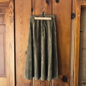 100% Suede Western Maxi Skirt